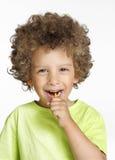 棒棒糖孩子。 免版税图库摄影