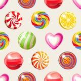 棒棒糖无缝的样式 库存图片