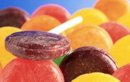 棒棒糖用长发甩头坑 免版税库存图片
