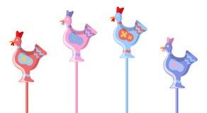 以棒棒糖的形式新的雄鸡 免版税库存图片