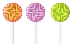 棒棒糖集合向量 免版税库存图片
