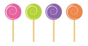 棒棒糖集合向量 免版税图库摄影