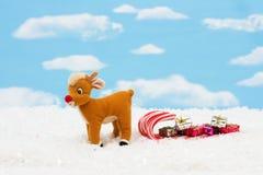 棒棒糖驯鹿雪橇 库存图片