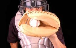 棒球俘获器 免版税库存图片