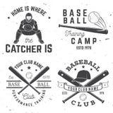 棒球俱乐部徽章 也corel凹道例证向量 衬衣的概念或商标、印刷品、邮票或者发球区域 库存图片