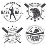 棒球俱乐部徽章 也corel凹道例证向量 衬衣的概念或商标、印刷品、邮票或者发球区域 免版税图库摄影
