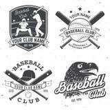 棒球俱乐部徽章 也corel凹道例证向量 衬衣的概念或商标、印刷品、邮票或者发球区域 免版税库存图片