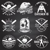 棒球俱乐部徽章 也corel凹道例证向量 衬衣的概念或商标、印刷品、邮票或者发球区域 图库摄影