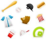 棒球动画片 免版税图库摄影