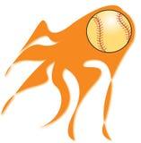 棒球发火焰 免版税图库摄影