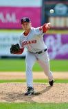 棒球发运同盟左手的较小投手 免版税库存图片