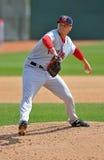 棒球发运同盟左手的较小投手 免版税库存照片