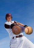 棒球命中 库存图片