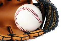 棒球和手套。 免版税库存图片
