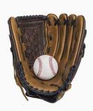 棒球和手套 图库摄影