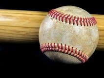棒球和棒 免版税图库摄影