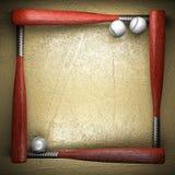 棒球和金黄墙壁 免版税库存图片