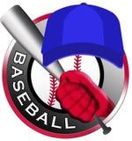 棒球商标 皇族释放例证