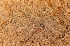 棒球场的耕地黏土表面的特写镜头细节 免版税库存图片