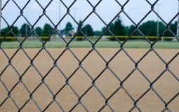 棒球场篱芭 图库摄影