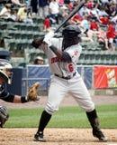 棒球垒手哈里逊印第安纳波利斯其次&# 免版税库存照片