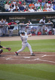 棒球垒手第一凯文・ Red Sox youkilis 库存图片