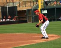 棒球垒手约翰逊・其次凯利 免版税图库摄影