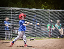 棒球孩子 免版税图库摄影
