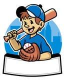 棒球孩子 皇族释放例证
