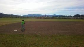 棒球实践 免版税库存照片