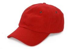棒球帽红色 库存图片