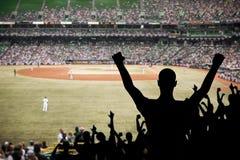 棒球庆祝风扇 库存照片