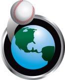 棒球循轨道运行 皇族释放例证