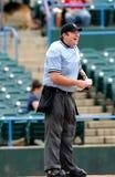 棒球愉快的审判员 库存图片