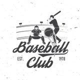 棒球或垒球俱乐部徽章 也corel凹道例证向量 衬衣的概念或商标、印刷品、邮票或者发球区域 库存图片