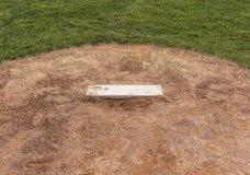 棒球投手土墩 图库摄影