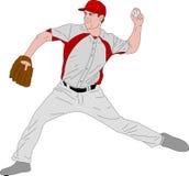 棒球投手详细的例证 向量例证