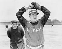 棒球投手(所有人被描述不更长生存,并且庄园不存在 供应商保单将没有方式 免版税库存图片