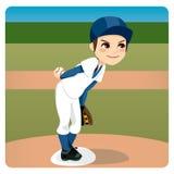 棒球投手 皇族释放例证