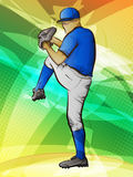 棒球投手 库存例证