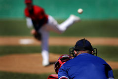 棒球投手 免版税库存图片