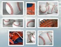 棒球拼贴画 库存图片