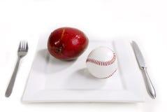 棒球早餐 免版税库存图片