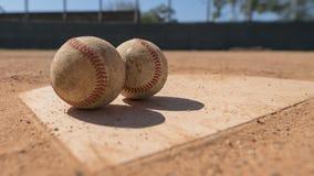 棒球本垒板 库存图片
