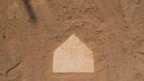 棒球本垒板 库存照片