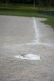 棒球本垒板 免版税库存照片