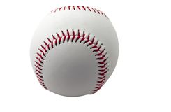 棒球查出的白色 库存图片