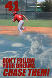 棒球梦想 免版税图库摄影