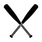 棒球棒查出的白色 库存例证