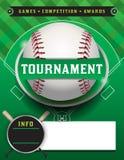 棒球比赛模板例证 库存照片